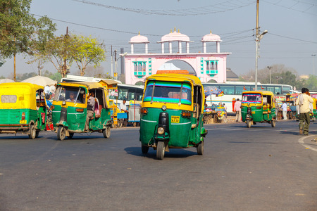 tuk: AGRA,INDIA - March 25,2013 : Rickshaw ( tuk tuk )is one of the most important transportation vehicles in India. Editorial