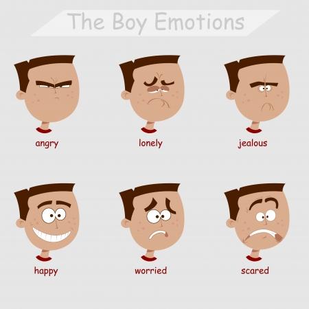 las emociones: las emociones boy