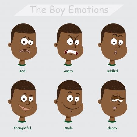 behaviours: las emociones Black Boy Vectores