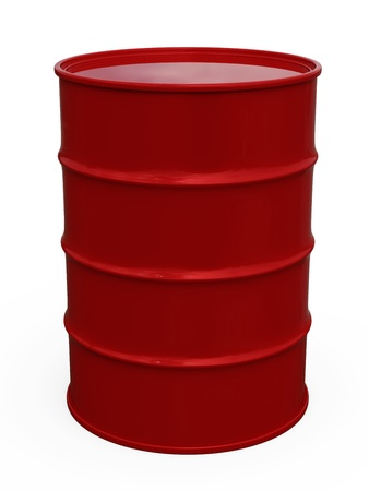 gas cylinder: 3D red barrel