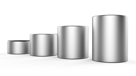 cylinder: 3d abstract round metal bars Stock Photo