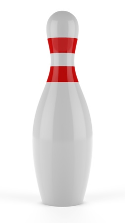 3d Bowling pins on white background Stock Photo - 17718815