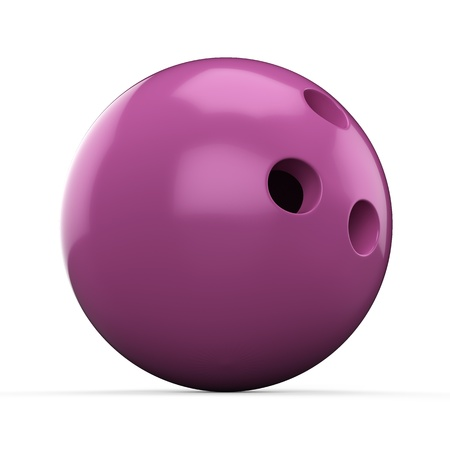 3d Pink Bowling Ball on white background