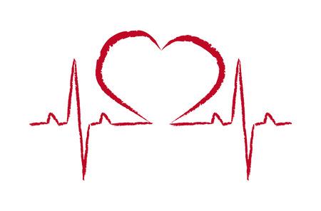 símbolo de rescate del vector pulso del corazón