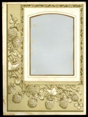 Victorian-era paper photo album page.