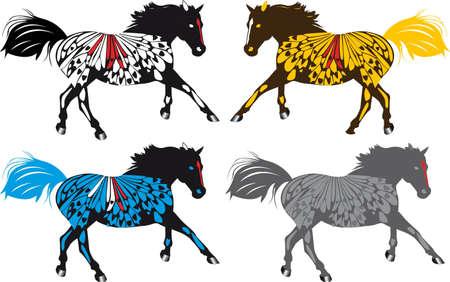 western theme: running horses