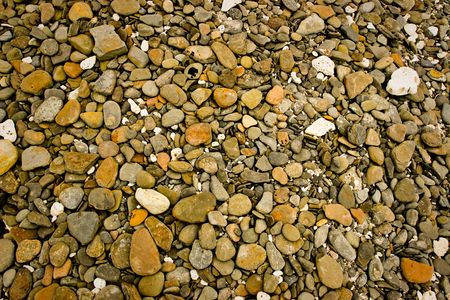 disarray: Different types and shapes of rough stones
