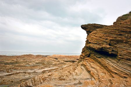 crag: Extrude Cliff under cloudy day
