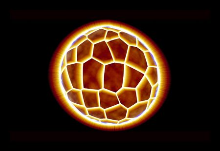 astrologer: Exploding planet with bright reddish yellow lights