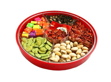 Chinese New Years candy boxcandy tray photo