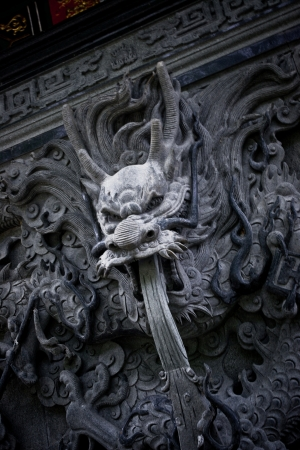 Dragon statue in temple photo