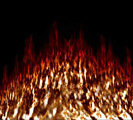 blazes: Fire in black background