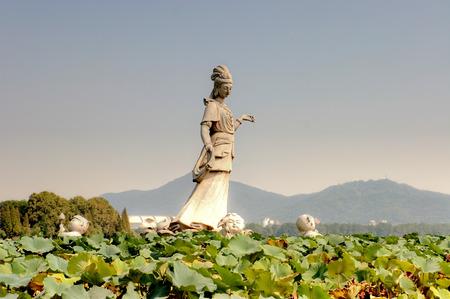 Guanyin Statue in the park (Nanjing, China) Stock Photo