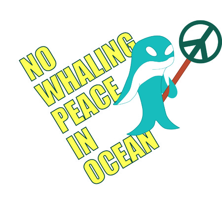 NO whaling, peace in ocean