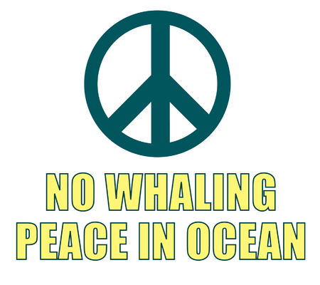 Love whale (NO whaling, peace in ocean)