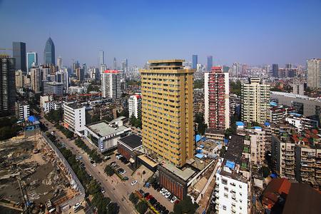 Wuhan skyline landscape view