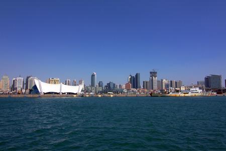 Qingdao coastal city scenery