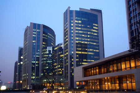 City of Beijing, Financial Street, night