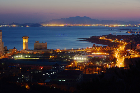 Qingdao city night scene