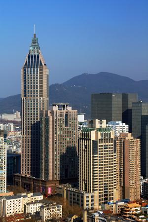 Urban architectural scenery in Nanjing Editorial