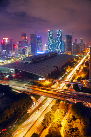 Night scene in Fukuda center, Shenzhen