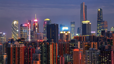 The night view of the Pearl River New Town, Guangzhou