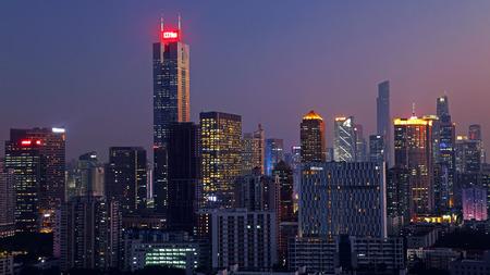Guangzhou sky Hebei night scene Editorial