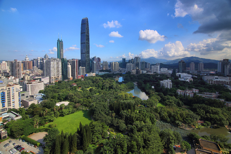 The scenery of litchi Park in Luohu, Shenzhen