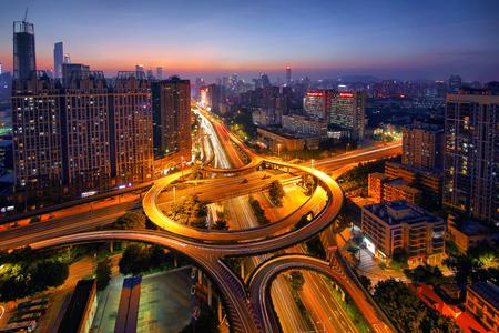 Night scene of Guangzhou Whampoa? interchange