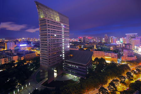 Kunming city scenery Wuhua district government night view Stock Photo