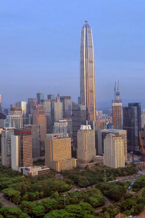 Shenzhen Futian Central District Peace Finance Center Stock Photo