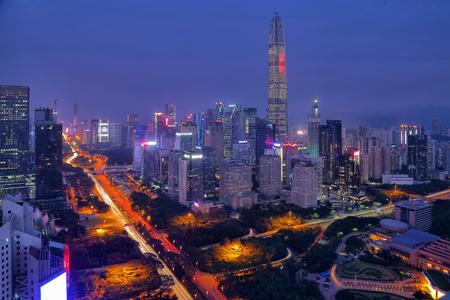 The night view of Shenzhen Futian Center