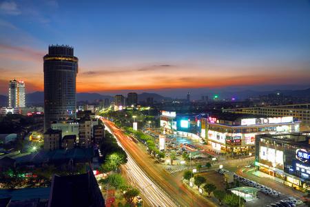Zhaoqing city night scenery Editorial