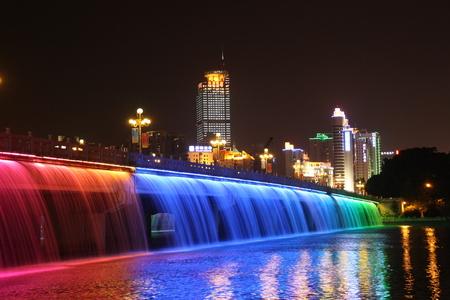 Nanning night view Rainbow Bridge