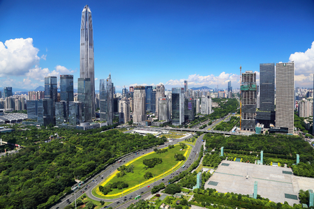 Urban scenery of Fukuda Central District, Shenzhen