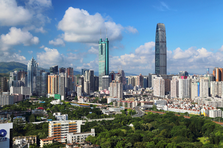 Urban scenery of Luohu, Shenzhen