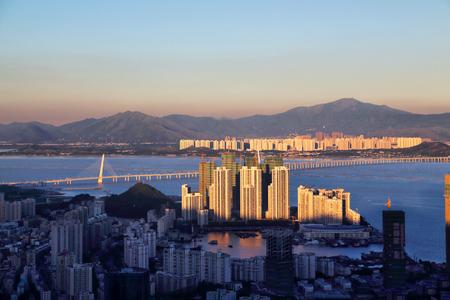 Coastal city scenery of Shenzhen Bay