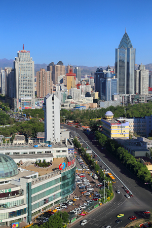 Urban scenery of Urumqi, Xinjiang Editorial