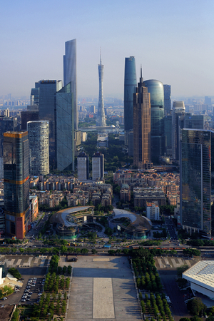The city scenery of the Pearl River New Town in Tianhe, Guangzhou