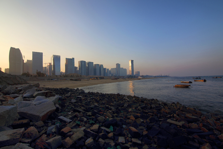 Xiamen Guanyin Mountain Beach City Scenery