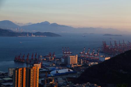 Shenzhen Bay coastal city scenery snake port Editorial