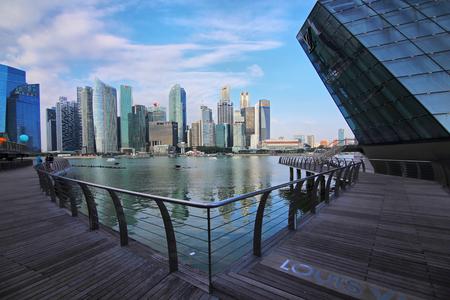 The city scenery of Marina bay of Singapore