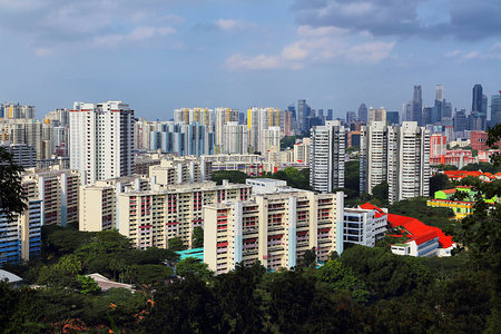 City Scenery of Mount Faber in Singapore