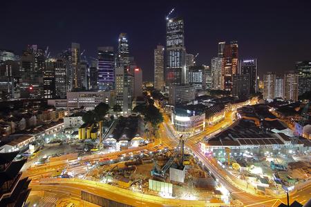 City night view of Singapore