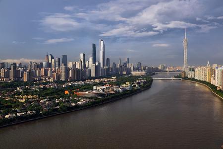 Guangzhou Pearl River City Scenery rainbow