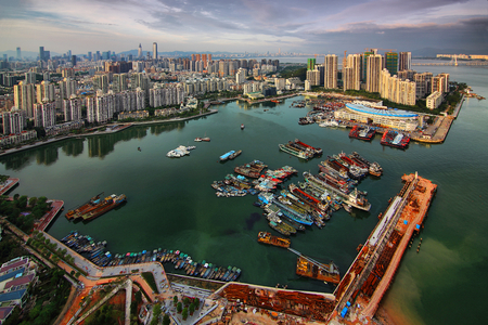The southern mountain of Shenzhen is the sights of the city of Shekou