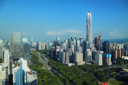 Urban scenery of Fukuda Central District, Shenzhen