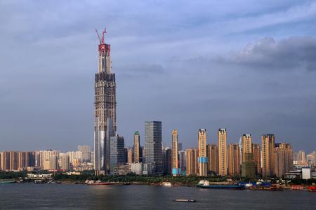 Wuhan Wuchang skyline Stock Photo