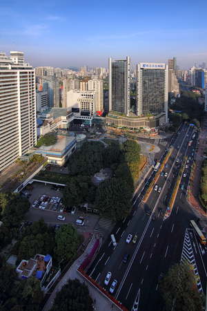 Architectural scenery of the east commercial circle of Guangzhou ring city
