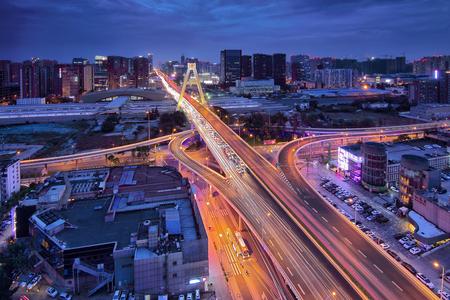 Chengdu Tianfu Overpass Night Scene